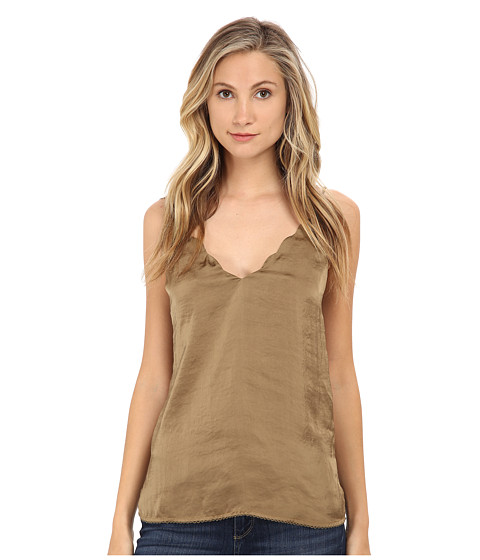 Imbracaminte Femei Free People Sensual Satin Scallop Deep-V Cami Fatigue