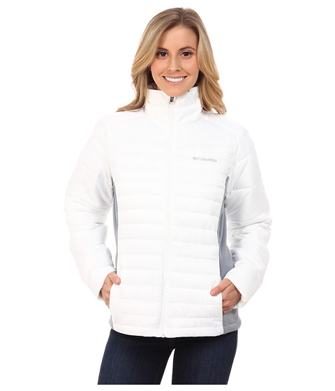 Imbracaminte Femei Columbia Powder Pillowtrade Hybrid Jacket WhiteTradewinds Grey