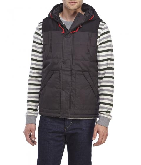 Imbracaminte Barbati American Stitch Hooded Puffer Vest Black