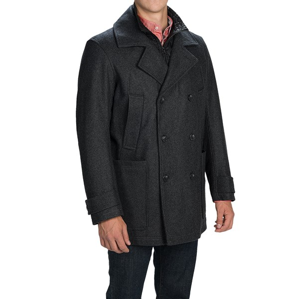Imbracaminte Barbati Marc New York by Andrew Marc Mulberry Coat - Melton Wool Blend Insulated CHARCOAL (03)