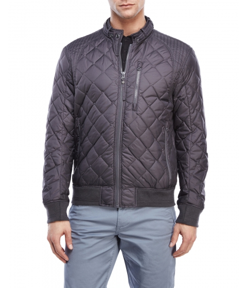 Imbracaminte Barbati Marc New York by Andrew Marc Delancey Quilted Bomber Jacket Steel