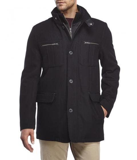 Imbracaminte Barbati Cole Haan Wool-Blend Coat with Bib Black