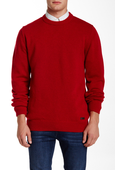 Imbracaminte Barbati Barbour Nelson Essential Crew Rich Red Wool Sweater RICH RED