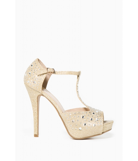 Incaltaminte Femei CheapChic Altino Sophisticated Love Platform Met Gold