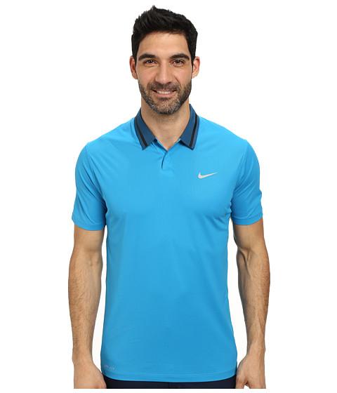 Imbracaminte Barbati Nike Golf Tiger Woods Ultra Polo 30 Light Blue LacquerBlackLight Blue LacquerMetallic Silver