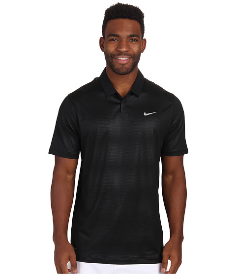 Imbracaminte Barbati Nike Golf Seasonal Embossed Polo 20 BlackWolf Grey