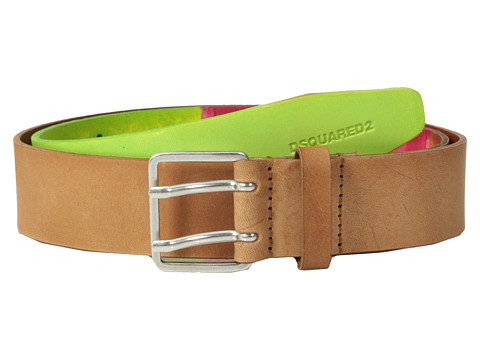 Accesorii Barbati DSQUARED2 Saturated Color Belt GreenFuchsia