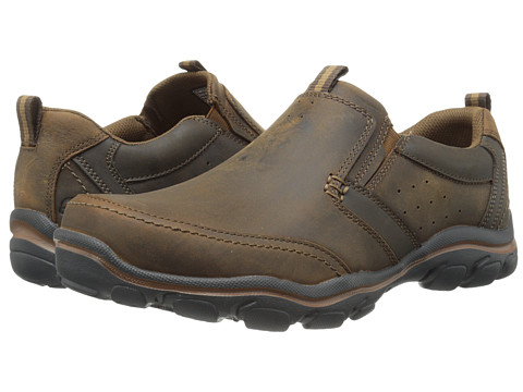 Incaltaminte Barbati SKECHERS Relaxed Fit Montz - Devent Dark Brown