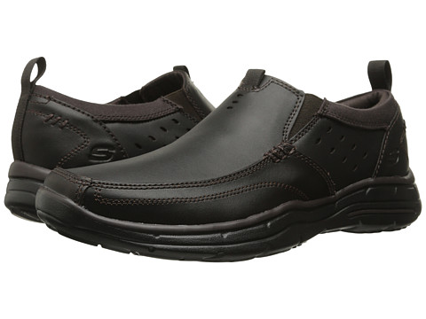 Incaltaminte Barbati SKECHERS Relaxed Fit Glides - Ramis Dark Brown