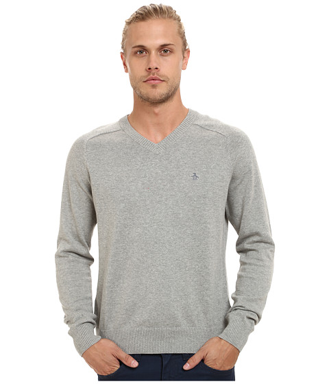 Imbracaminte Barbati Original Penguin Long Sleeve Fully Fashioned Rain Heather
