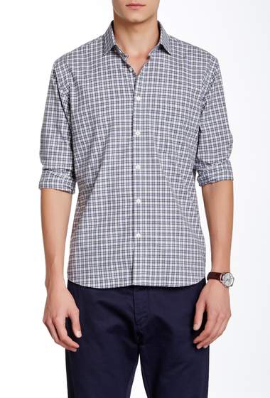 Imbracaminte Barbati Billy Reid John T Check Print Long Sleeve Standard Fit Shirt GRYCM