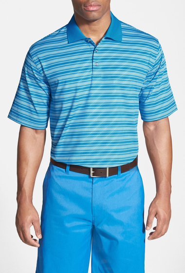 Imbracaminte Barbati SWC Stripe Short Sleeve Polo ASTER-BLUE