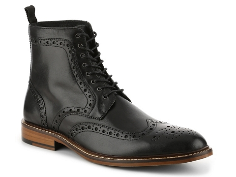 Incaltaminte Barbati Aston Grey Payton Wingtip Boot Black