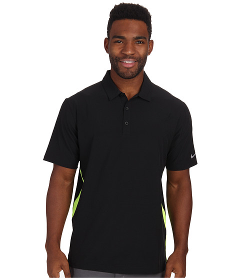 Imbracaminte Barbati Nike Golf Lightweight Woven Polo BlackVoltWolf Grey