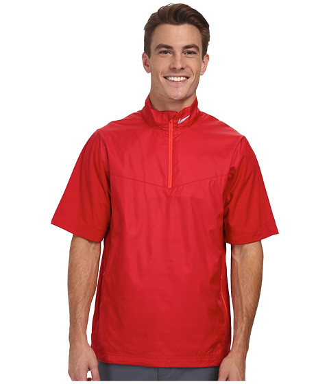 Imbracaminte Barbati Nike Shield SS 12-Zip Gym RedDaring RedWolf Grey