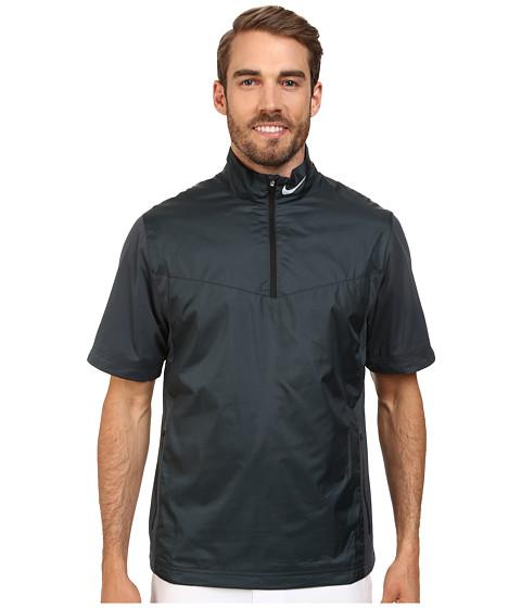 Imbracaminte Barbati Nike Shield SS 12-Zip Classic CharcoalBlackWolf Grey