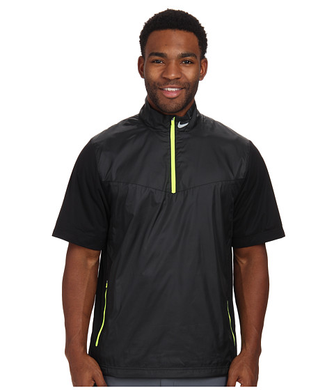 Imbracaminte Barbati Nike Shield SS 12-Zip BlackVoltWolf Grey