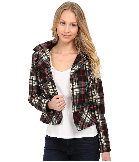 Imbracaminte Femei dollhouse Asymetric Zip Jacket w Peplum Bottom Adele Plaid
