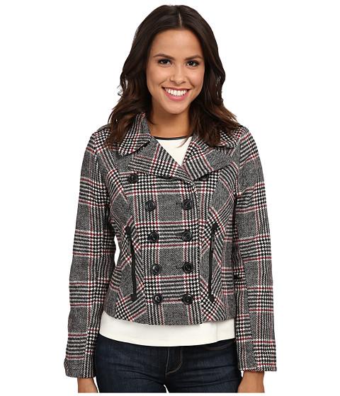 Imbracaminte Femei dollhouse Double Breasted Notch Collar Jacket w Zipper Pockets Norah Plaid