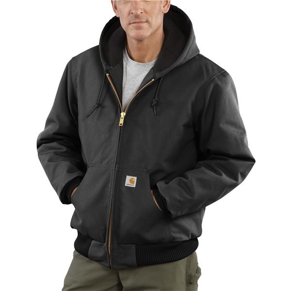 Imbracaminte Barbati Carhartt Active Duck Jacket - Flannel-Lined (For Tall Men) BLACK (01)