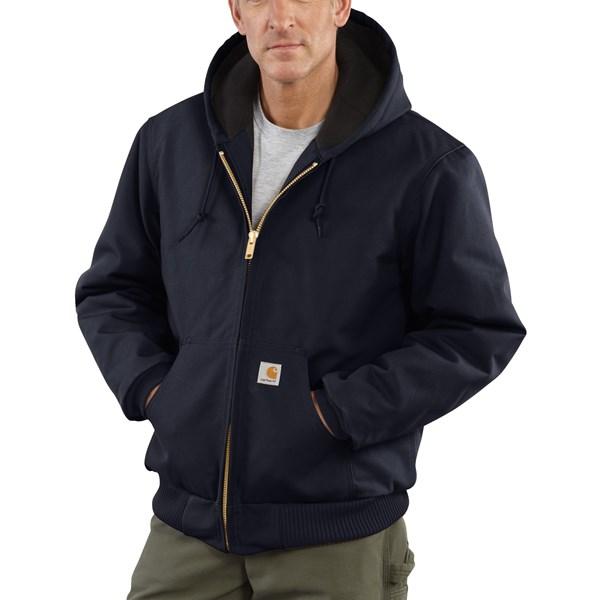 Imbracaminte Barbati Carhartt Active Duck Jacket - Flannel-Lined (For Tall Men) DARK NAVY (03)
