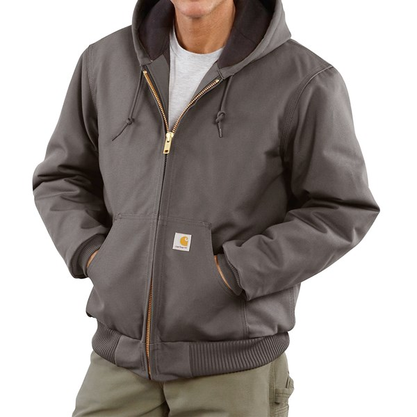 Imbracaminte Barbati Carhartt Active Duck Jacket - Flannel-Lined (For Tall Men) GRAVEL (06)