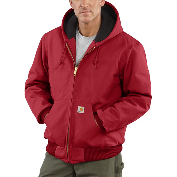 Imbracaminte Barbati Carhartt Active Duck Jacket - Flannel-Lined (For Tall Men) RED (04)