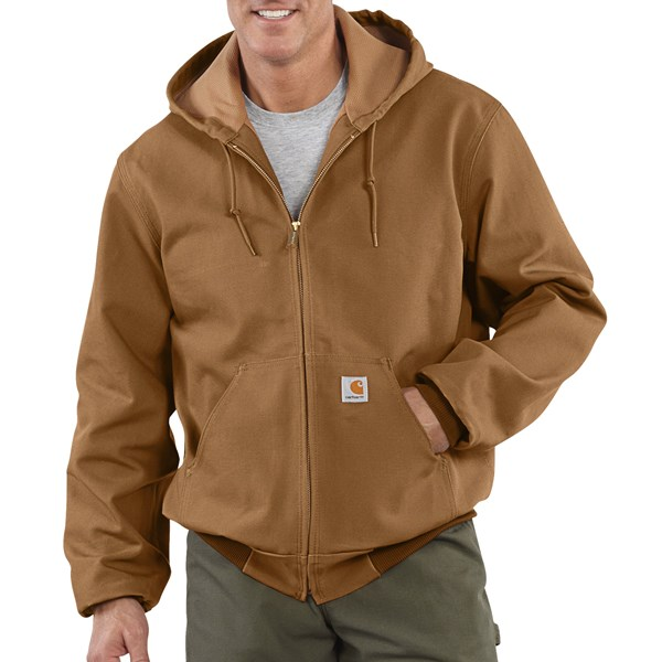 Imbracaminte Barbati Carhartt Thermal-Lined Active Duck Jacket - Ring-Spun Cotton (For Tall Men) CARHARTT BROWN (03)