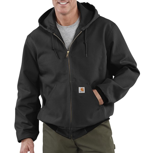 Imbracaminte Barbati Carhartt Thermal-Lined Active Duck Jacket - Ring-Spun Cotton (For Tall Men) BLACK (02)