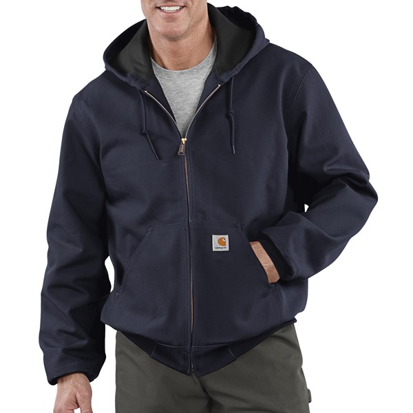 Imbracaminte Barbati Carhartt Thermal-Lined Active Duck Jacket - Ring-Spun Cotton (For Tall Men) DARK NAVY (04)