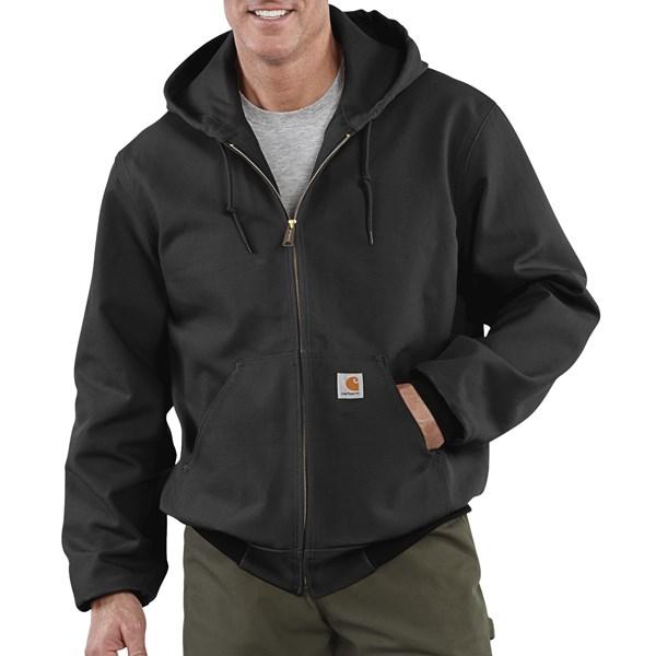 Imbracaminte Barbati Carhartt Thermal-Lined Active Duck Jacket - Ring-Spun Cotton BLACK (03)