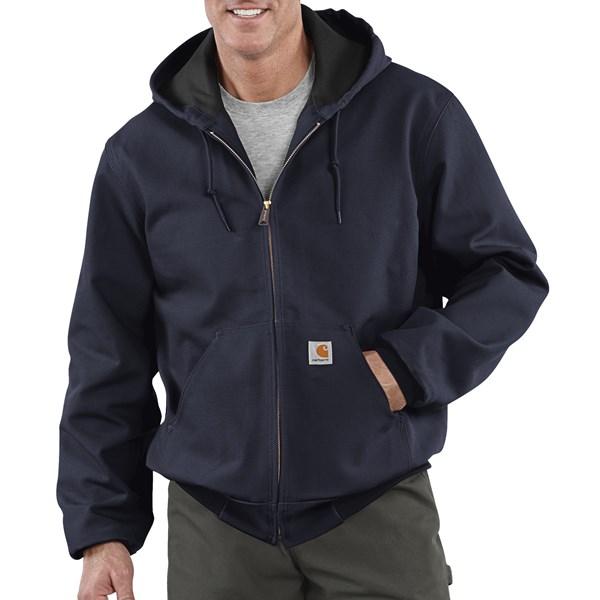 Imbracaminte Barbati Carhartt Thermal-Lined Active Duck Jacket - Ring-Spun Cotton DARK NAVY (02)