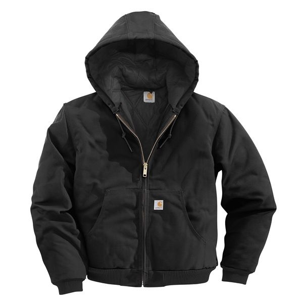 Imbracaminte Barbati Carhartt Active Duck Jacket - Flannel-Lined BLACK (01)