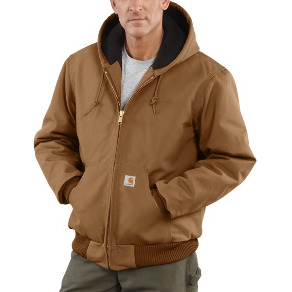 Imbracaminte Barbati Carhartt Active Duck Jacket - Flannel-Lined CARHARTT BROWN (02)