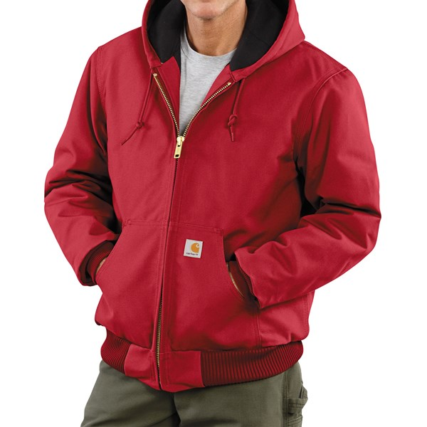 Imbracaminte Barbati Carhartt Active Duck Jacket - Flannel-Lined RED (05)