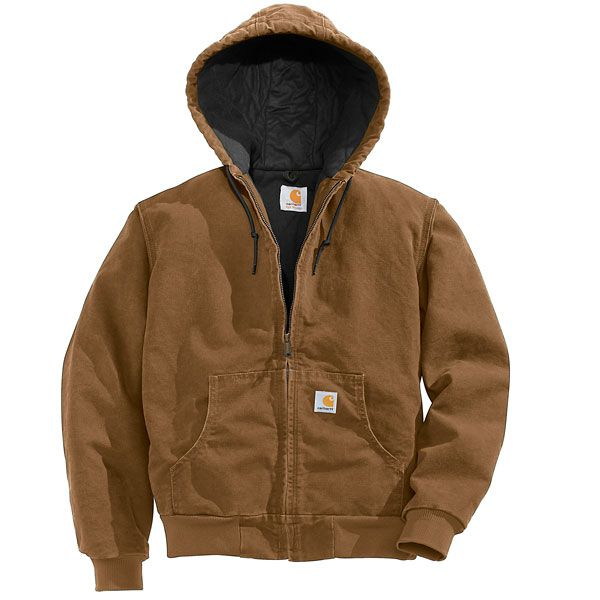 Imbracaminte Femei Carhartt Active Hooded Coat - Windproof CARHARTT BROWN (04)