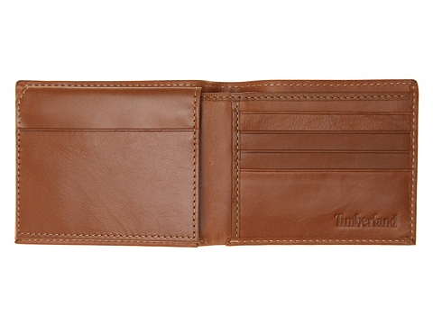 Accesorii Barbati Timberland Timberland Cloudy Passcase Leather Wallet Tan