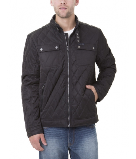 Imbracaminte Barbati US Polo Assn QUILTED JACKET W Faux Leather Yoke and Trim Black