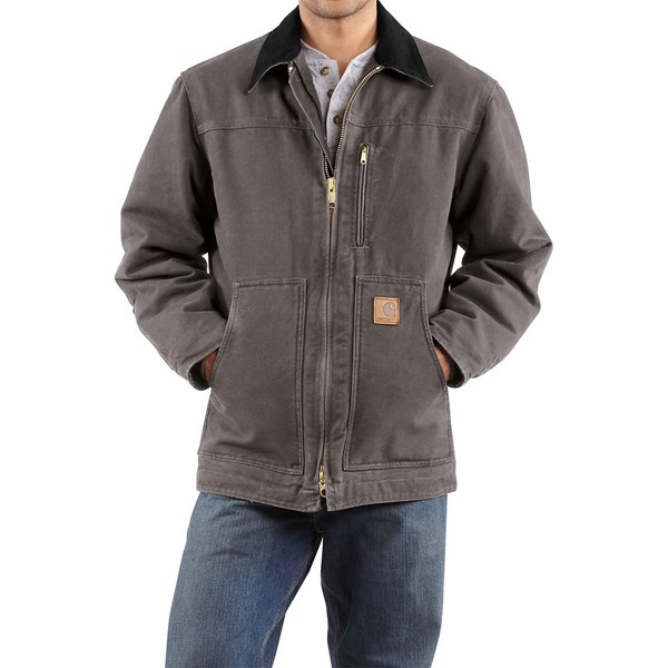 Imbracaminte Barbati Carhartt Sandstone Ridge Coat - Sherpa Pile Lining (For Tall Men) GRAVEL (07)
