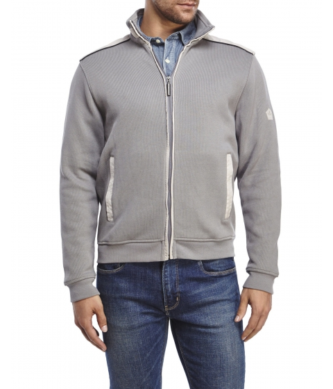 Imbracaminte Barbati English Laundry Full-Zip Knit Jacket Charcoal