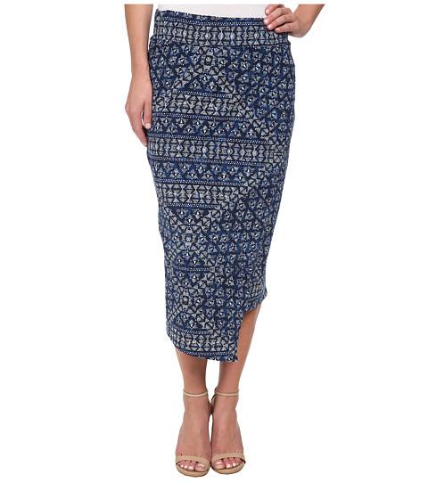 Imbracaminte Femei DKNY Batik Print Wrap Maxi Skirt Mood Indigo