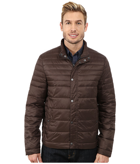 Imbracaminte Barbati Kenneth Cole Quilted Poly Jacket Brown