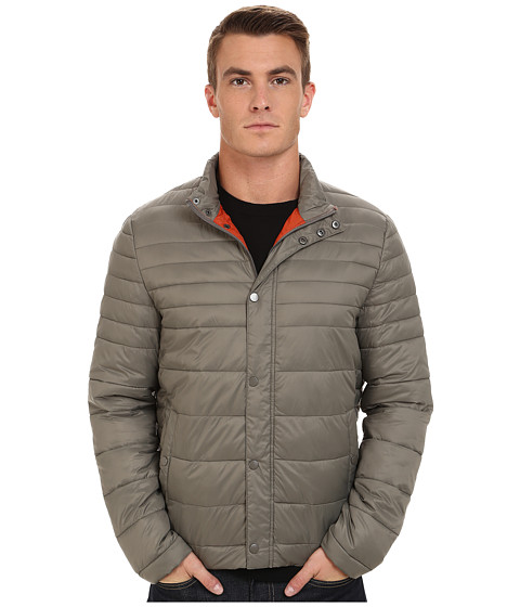 Imbracaminte Barbati Kenneth Cole Quilted Poly Jacket Taupe