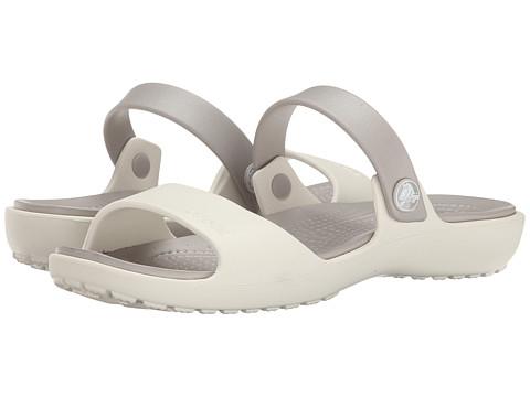 Incaltaminte Femei Crocs Coretta Sandal OysterPlatinum