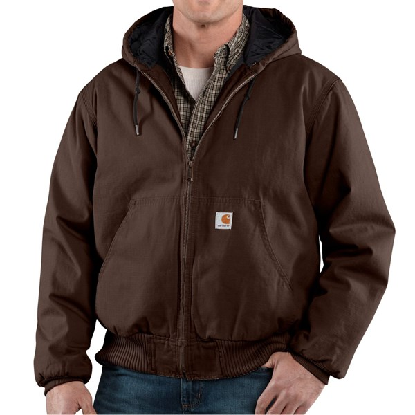 Imbracaminte Barbati Carhartt Ripstop Active Jacket DARK BROWN (07)