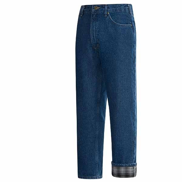 Imbracaminte Barbati Carhartt Straight-Leg Jeans - Flannel Lined Relaxed Fit DARK STONE WASH (32)
