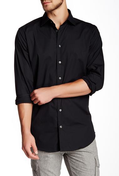 Imbracaminte Barbati 14th Union Long Sleeve Trim Fit Solid Dress Shirt BLACK