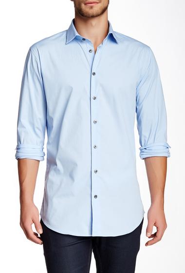 Imbracaminte Barbati 14th Union Long Sleeve Trim Fit Solid Dress Shirt LIGHT BLUE