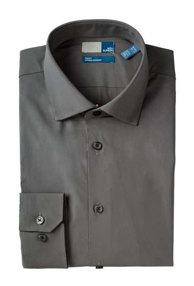 Imbracaminte Barbati 14th Union Long Sleeve Trim Fit Solid Dress Shirt GREY