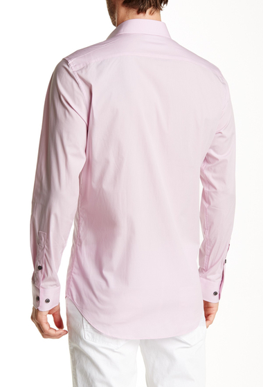 Imbracaminte Barbati 14th Union Long Sleeve Trim Fit Solid Dress Shirt PINK SNOW